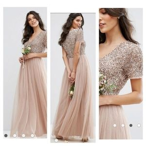 ASOS Maya maternity sequin v-neck maxi dress gown
